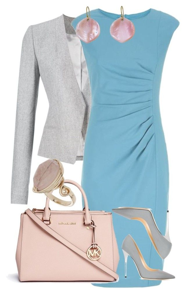 """""""Simple office spring"""" by aija-emsina on Polyvore featuring Thierry Mugler, MaxMara, Michael Kors, Jimmy Choo, Annette Ferdinandsen and Topshop"""