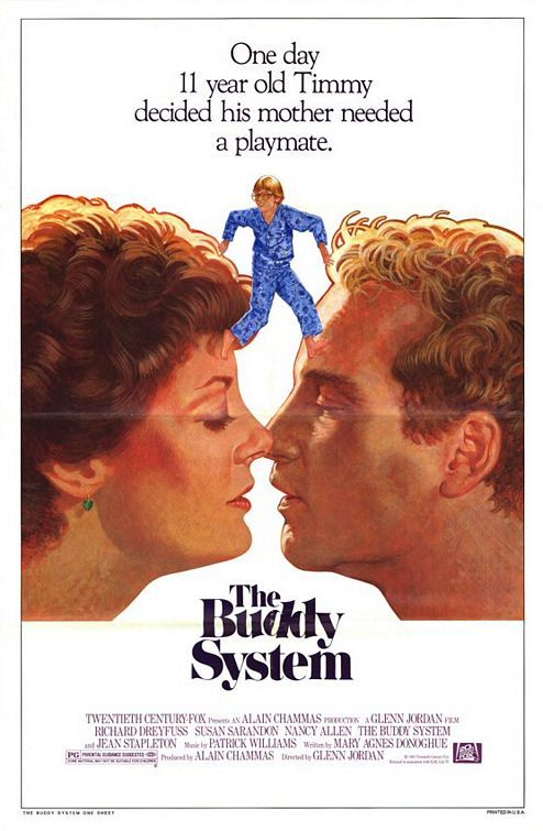 The Buddy System Movie 1984 | I love this film! It stars Richard Dreyfuss, Susan Sarandon, and a young Wil Wheaton. Jean Stapleton played Susan Sarandon's mother, and she was brilliant in that role. Far removed from her role as Edith Bunker, she played a controlling mother who used subtle guilt to manipulate her daughter (Susan Sarandon) in order to get her way.