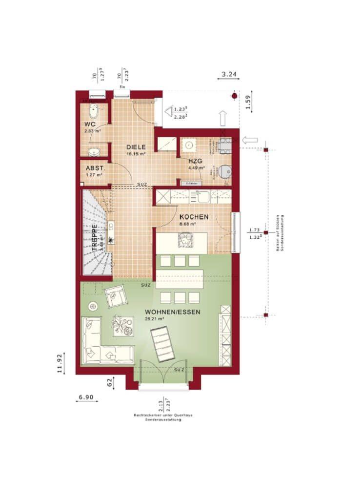die besten 25 doppelhaus grundriss ideen auf pinterest hausbau grundriss badezimmer. Black Bedroom Furniture Sets. Home Design Ideas