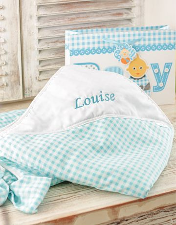 Gift ideas: Personalised Baby Boy Picnic Blanket - Blue