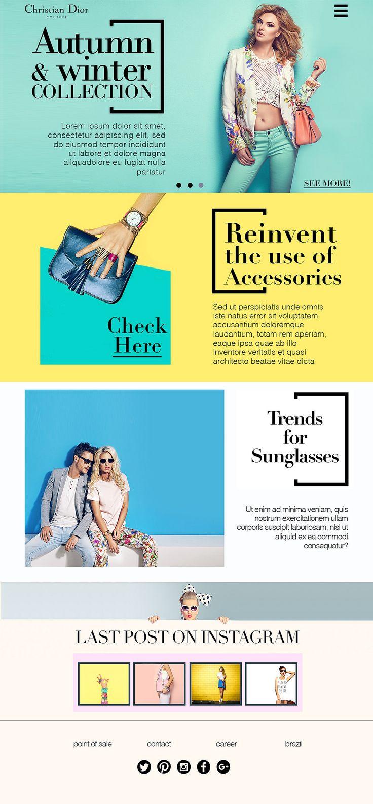https://flic.kr/p/ToATNH   Rebranding Dior   Proposta de Templatepara o site da marca Christian Dior.