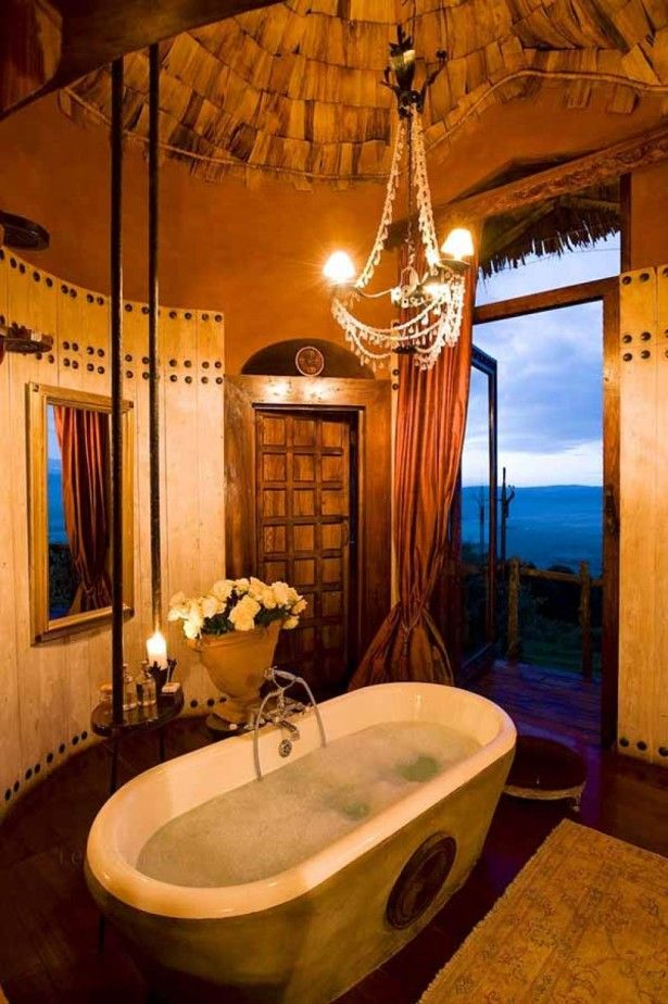Suite Bathroom With A View   Ngorongoro Crater Lodge, Tanzania Part 97