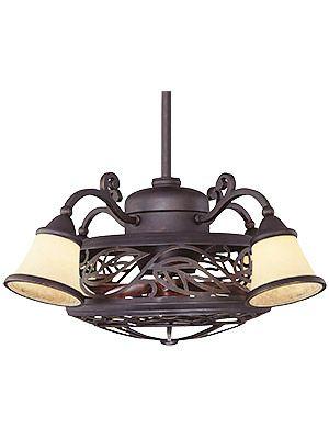Vintage Ceiling Fans. Bay St. Louis Fan D'lier In Antique Copper