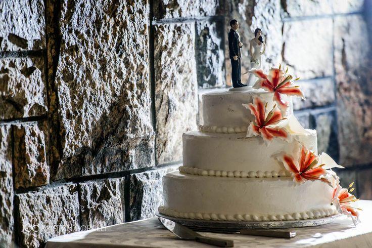 Wedding Cake With Flowers  | Kristen Borelli Photography | Vancouver Island Weddings | Patterson Kaye Lodge Wedding Photography | Cottage Weddings