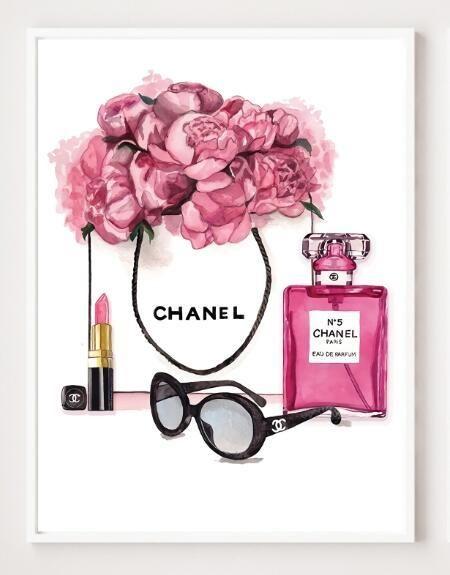 Modern Perfume Bottle Wall Art No Frame Chanel Art Print Chanel Art Chanel Wall Art