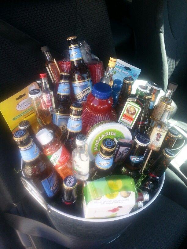 Alcohol basket ...my kind of basket