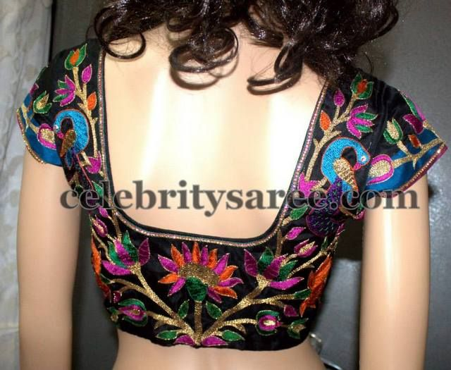 Saree Blouse Designs with Floral Work | Saree Blouse Patterns