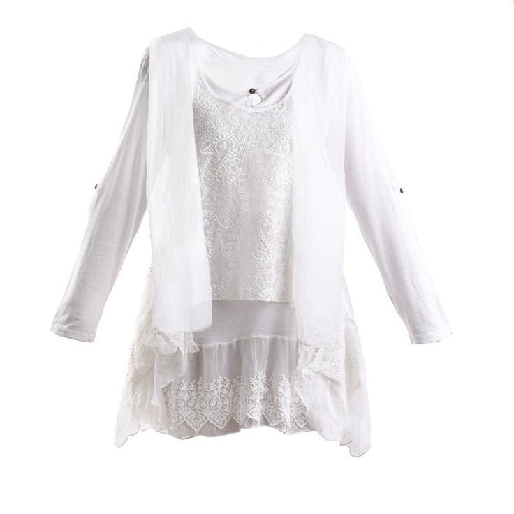 DRESS IN WHITE COLOR WITH BEIGE PRINTS ONE SIZE - Skirts-Dresses - Clothes