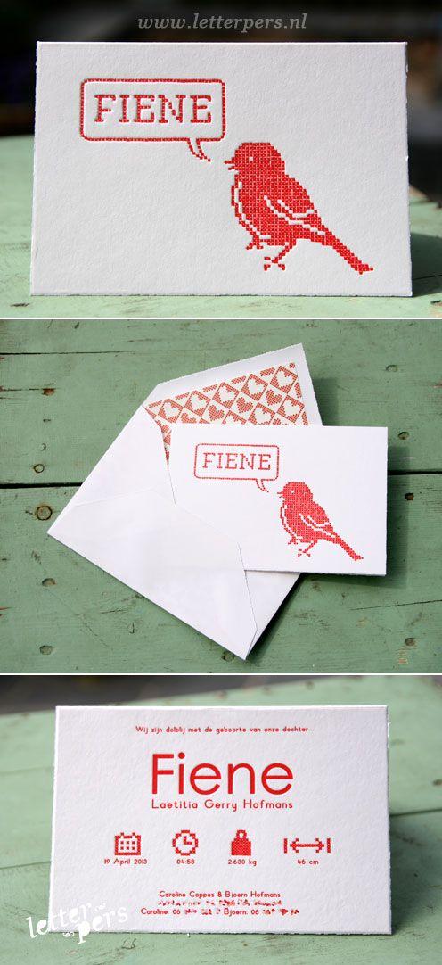 letterpers_letterpress_Fiene_geboortekaartje_kruissteekje_vogeltje_kruisje