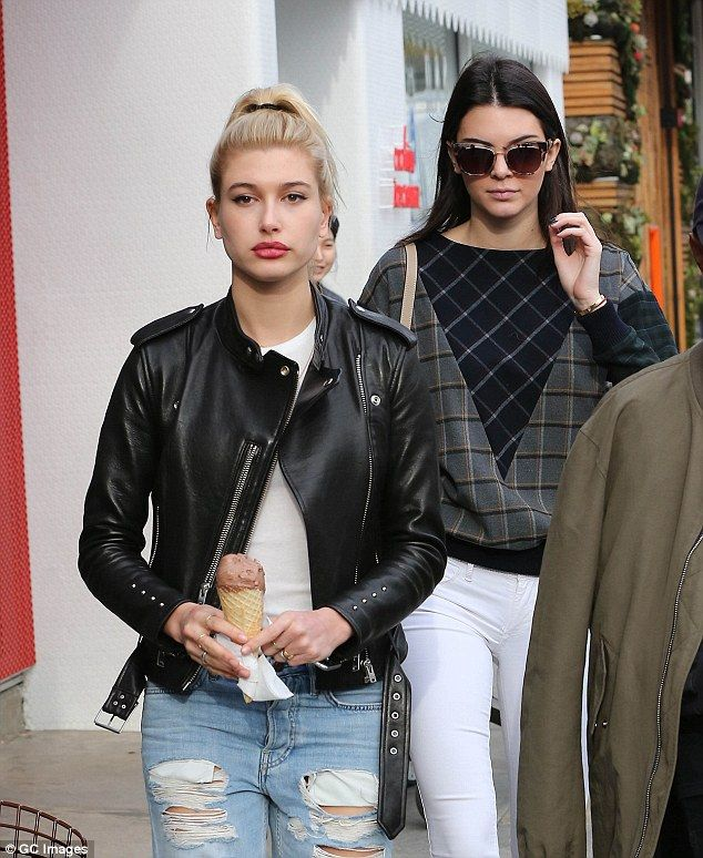 Famous friends: Kendall is often seen out with Stephen Baldwin's daughter Hailey Baldwin, ...