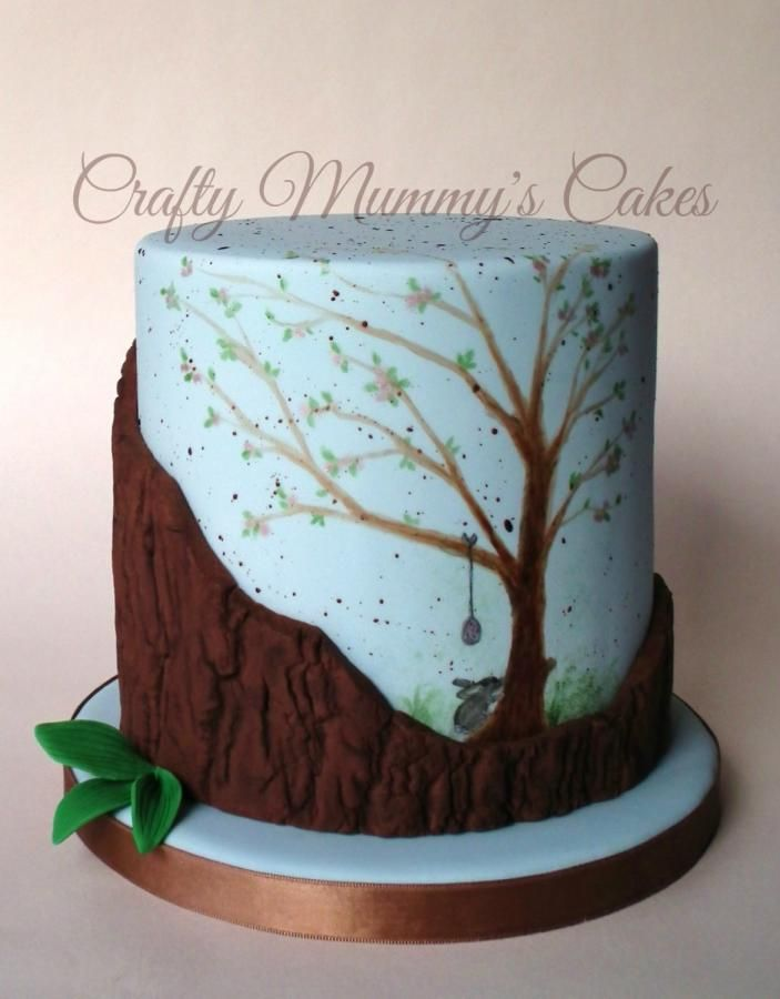 Woodland Easter - A Painted Easter Collaboration - Cake by CraftyMummysCakes (Tracy-Anne)