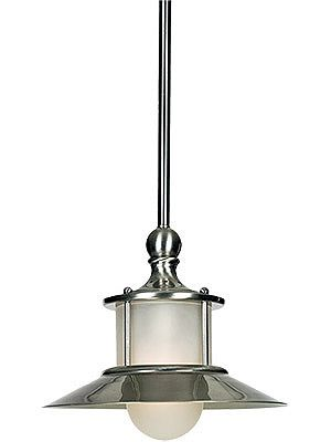 Pendant Light Fixtures. New England Pendant in Brushed Nickel