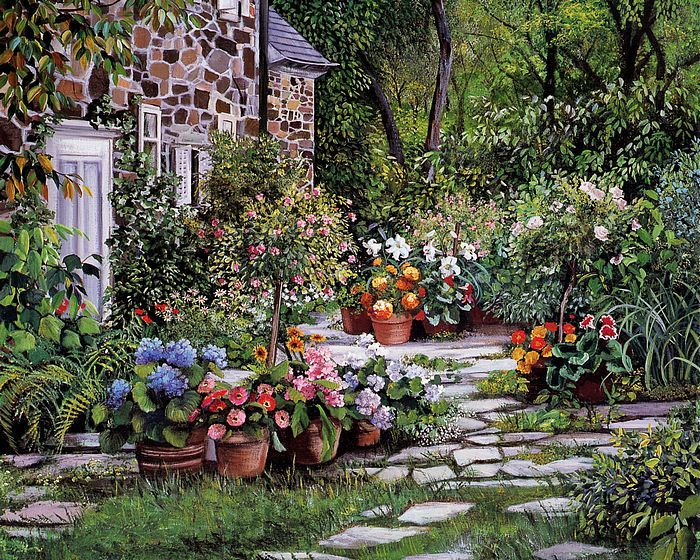 Susan Rios (b.1950) —   Visiting (700x560)