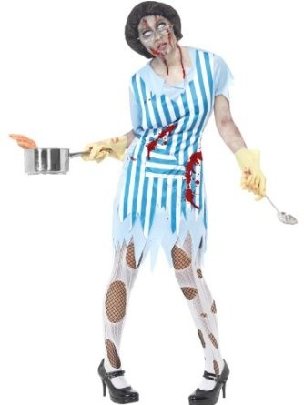 Amazon.com: High School Horror Zombie Lunch Lady Adult Costume: Clothing