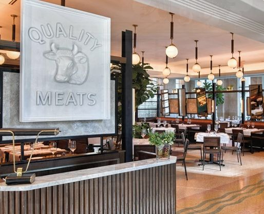 Quality Meats, south beach, Miami FL--- steakhouse with a butcher shop feel