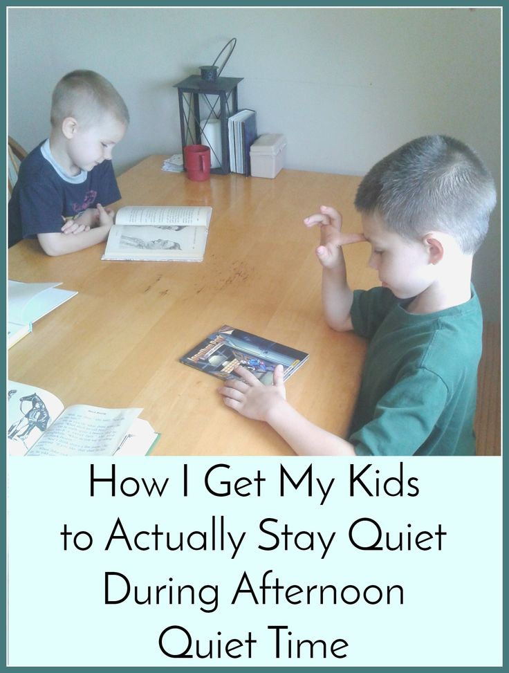 How I Get My Kids to Stay Quiet During Afternoon Quiet Time
