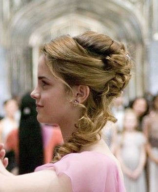 Hermione Yule Ball hairstyle side view