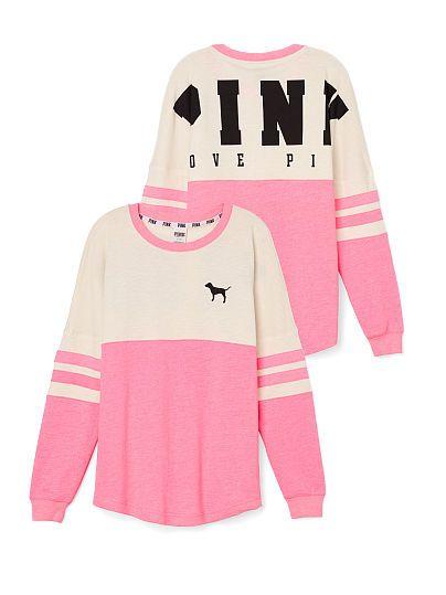 VS PINK Varsity Crew-pink