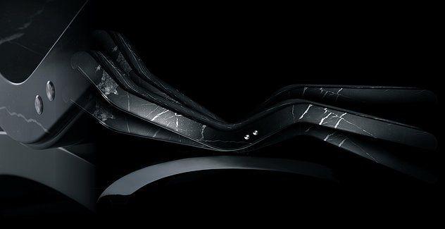 Chaise Longue de Diseño CLEOPATRA CLASSICO: INNOVACIÓN TECNOLÓGICA. UNA ESCULTURA DE MÁRMOL CON MECANISMO DE INCLINACIÓN.