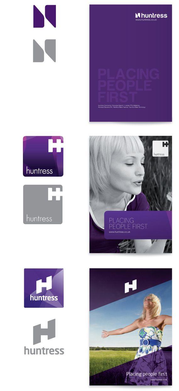 Huntress Rebrand by Workbrands , via Behance