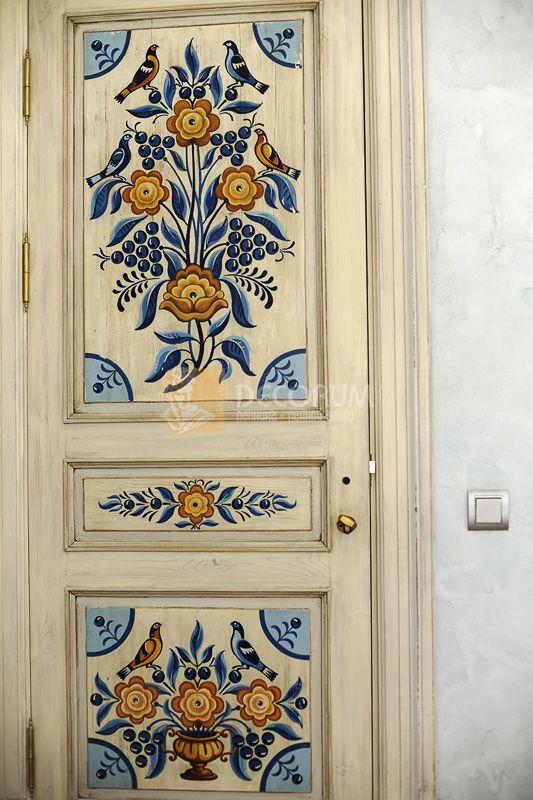 Folk art door