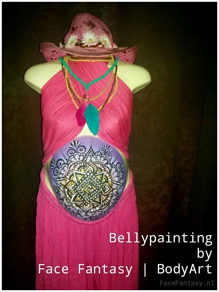 Bellypainting Bellypaint mandala Bellypaintdesign henna Hippiestyle  Made by bodyArtist Merel Wismeijer Face Fantasy | BodyArt Amersfoort