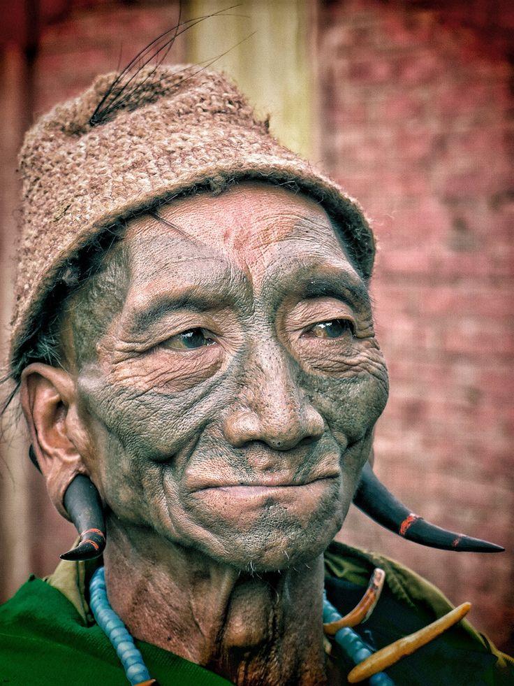 Nagaland HeadHunter #nagaland #warrior #india #portrait #tattoo