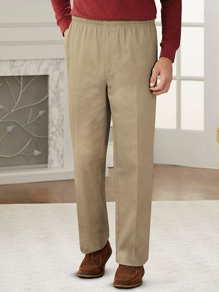 Haband offers men's lounge pants with an elastic waist & inner drawstring by Active Joe®. Discover a blend of style & comfort in cotton drawstring pants today!