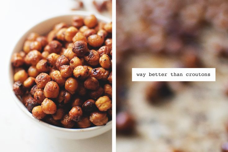 Roasted Chickpeas – a great crouton replacement for salads