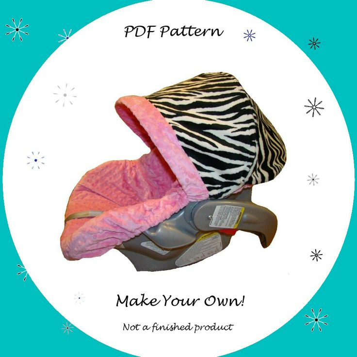 Infant Car Seat Cover Pattern  PDF Pattern  Ebook by SassyPatterns, $9.50