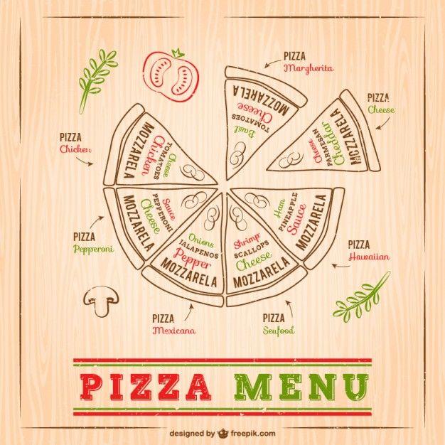 Desenho pizza menu