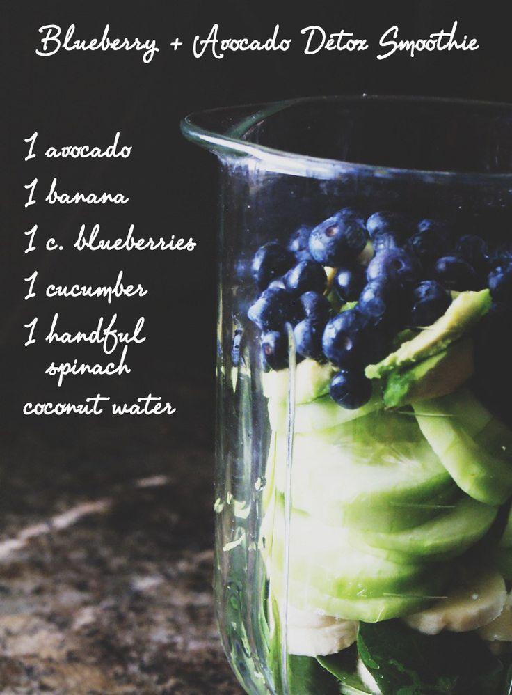 Blueberry + Avocado Detox Smoothie | http://jillianastasia.com/blueberry-avocado-detox-smoothie/