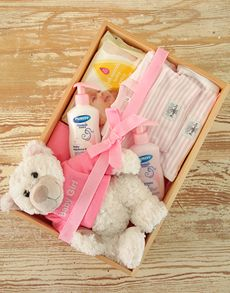 Baby Shower Gifts: Baby Girl Crate of Goodies!
