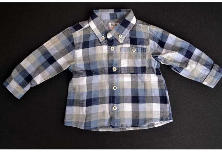 Zara % 100 Pamuk Arka Etiketi Kesik Erkek Bebek Gömlek