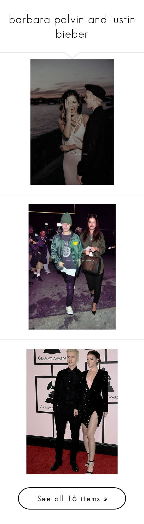 """""""barbara palvin and justin bieber"""" by harrysdimplebaby ❤ liked on Polyvore"""