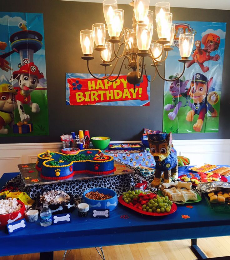 Paw Patrol Birthday Party For 3 Year Olds Birthday