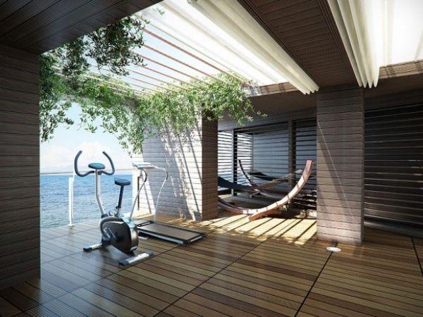 Fitnessraum gestalten  Die besten 25+ Fitnessraum zu hause Ideen auf Pinterest | Windfang ...