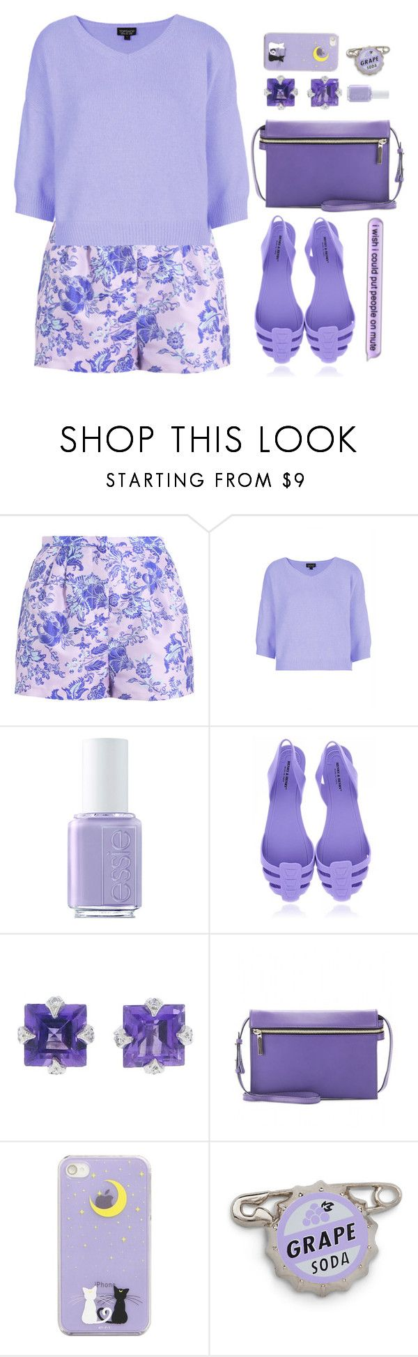 """""""Violet Hill"""" by sazyc ❤ liked on Polyvore featuring Topshop, Essie, Cathy Waterman, Victoria Beckham, purple, lavender and SongSet"""