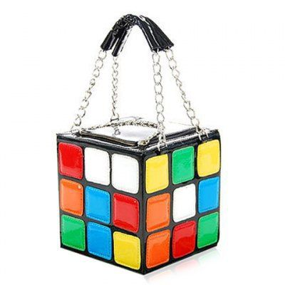 2015 New Fashion Women lovely Rubik's Cube Handbag Clutch bags 2015 GIFT Rubik cube bag,Rubik bag