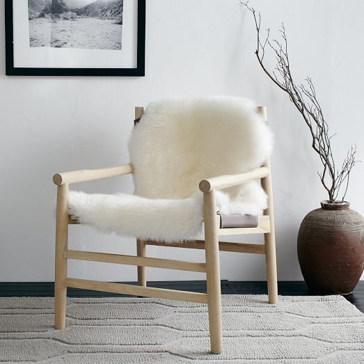 Leather + Fur Sling Chair