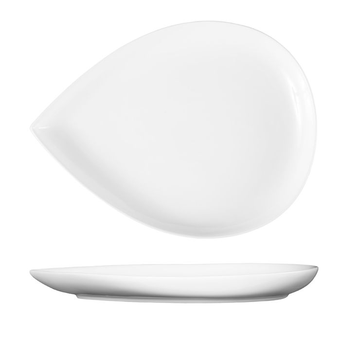 Fortessa Fortaluxe Vitrified China Dinnerware, Petals Wide-Well Plate, 12.25-Inch, Set of 6