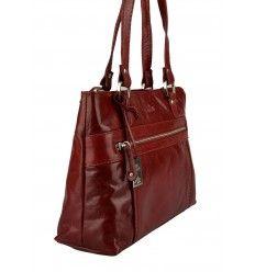 Køb denne skønne røde skindtaske fra The Monte - 52116