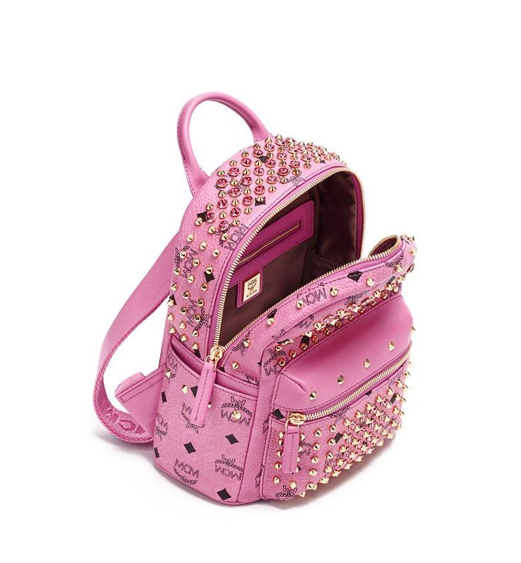 MCM DIAMOND STARK BACKPACK PINK - MCM-4 #mcm #backpack #pink #bag
