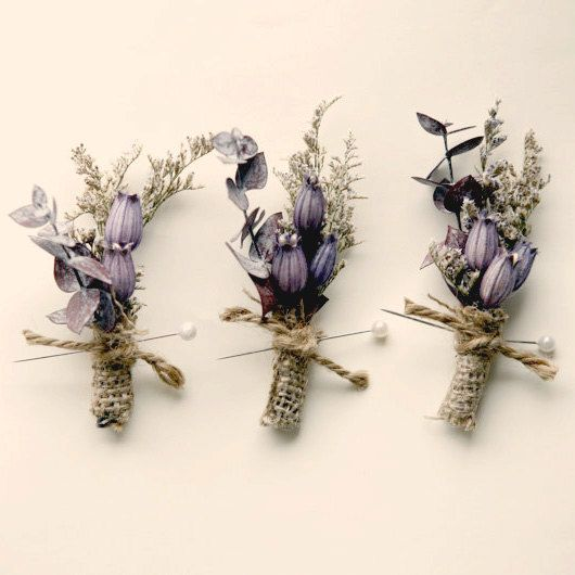 groomsmen wedding boutonniere natural keepsake  by whichgoose, $12.00