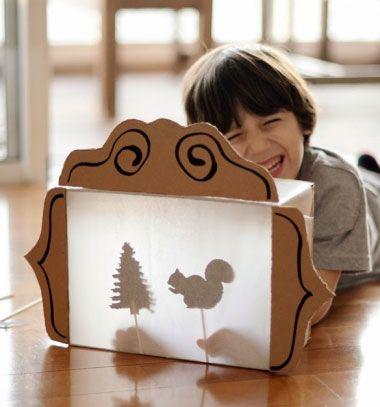 DIY Shadow theater from a cardboard box - recycling kids craft // Árnyszínház kartondobozból - kreatív gyerekjáték papírból // Mindy - craft tutorial collection // #crafts #DIY #craftTutorial #tutorial #KidsCrafts #CraftsForKids #KreatívÖtletekGyerekeknek