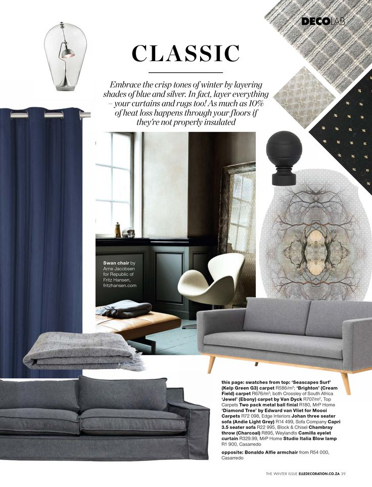 DECO LAB: THE ART OF NESTING   filled with the most beautiful #rugs, #couches, #carpets and #blankets from page 37 in the latest #WinterIssue
