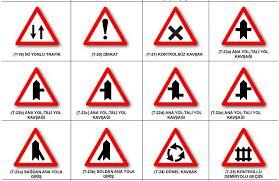 trafik işaretleri boyamaları anlamları ve açıklamaları ile ilgili görsel sonucu