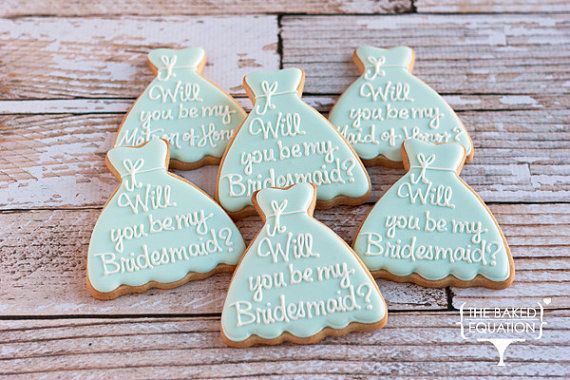 Will You Be My Bridesmaid Dress Cookies by TheBakedEquation