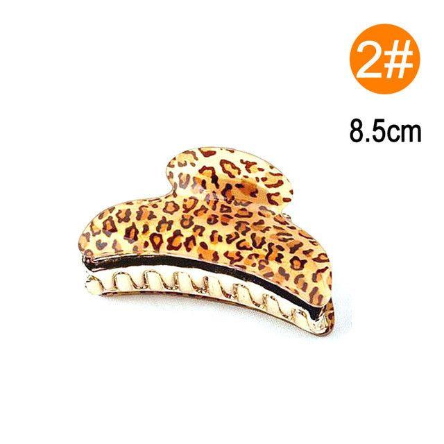 Sale Women Acrylic Fashion Leopard Hair Clip Hair Claws Hair Accessories 4 Sizes