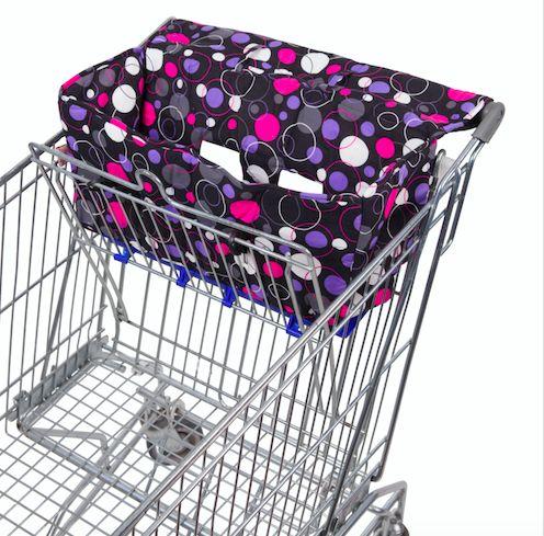 Purple Circles Shopping Trolley Liner - Bambella Designs